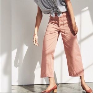 Madewell Pink Salmon Cropped Ankle Pants